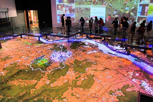 Mapa gigante de Seul, no Seoul Museum of History