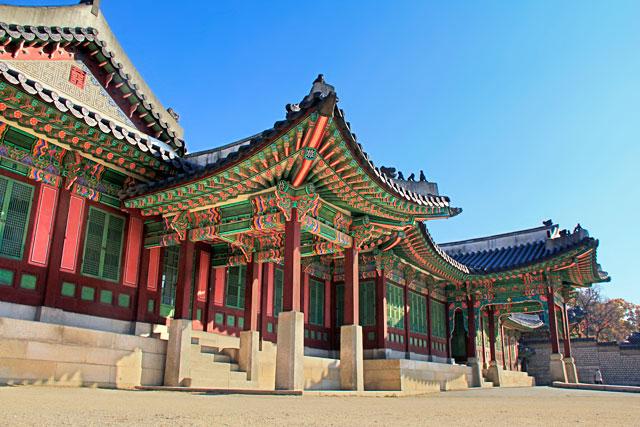 Um dos edifícios do Palácio Changedeokgung