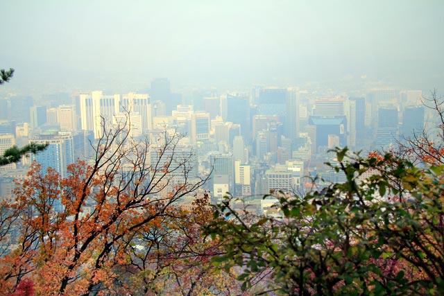 Seul vista do Monte Namsam