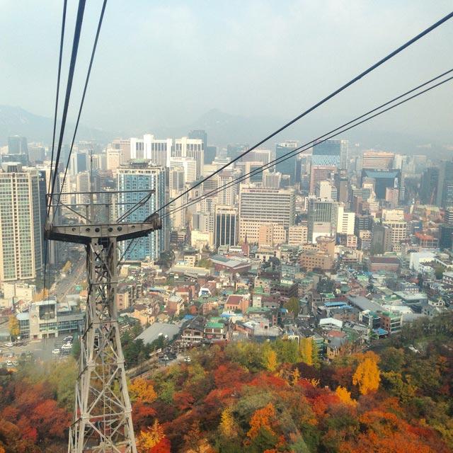 Teleférico da N Seoul Tower (via Instagram)