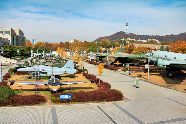 Exibição externa do Memorial da Guerra da Coreia