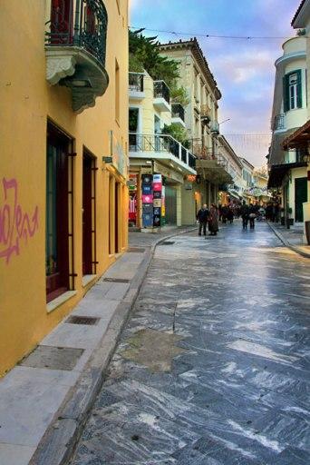 Rua Adrianou, em Plaka