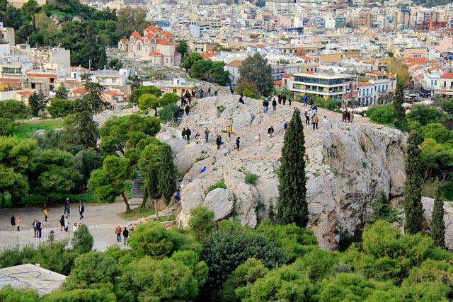 Areópago, visto da Acrópole