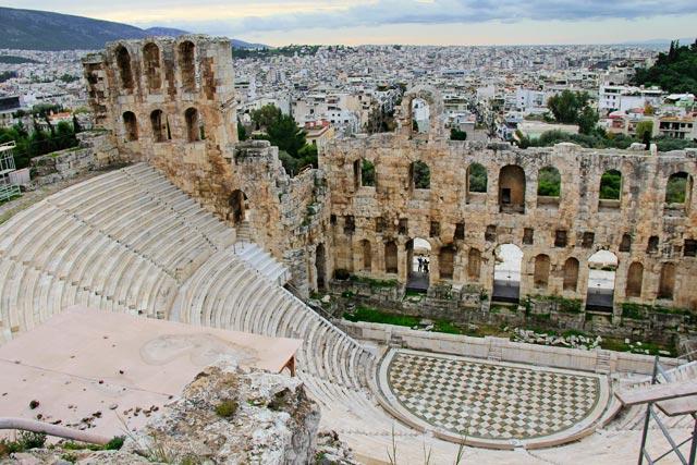 Odeão de Herodes Ático, na Acrópole