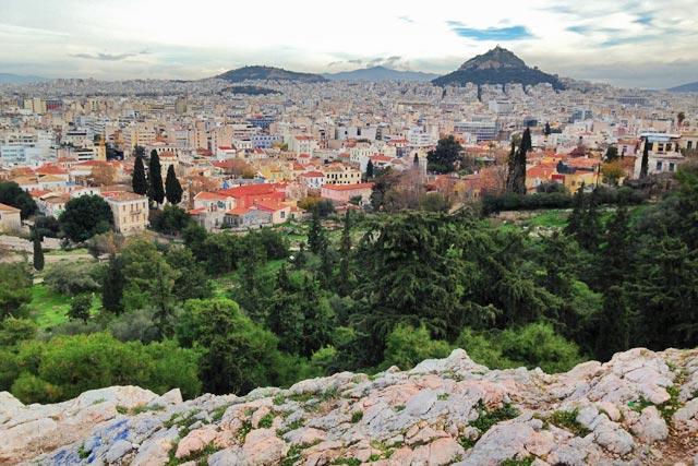 Atenas, vista da Acrópole
