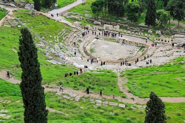 Teatro de Dionísio visto do topo da Acrópole