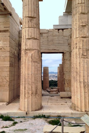 Propileu, na Acrópole