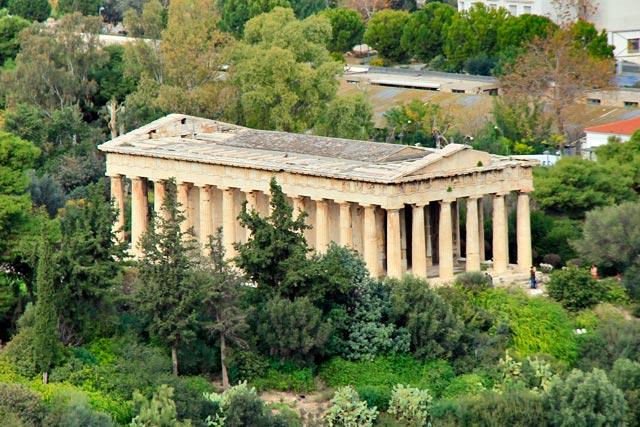 Templo de Hefesto visto da Acrópole