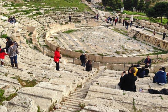 Teatro de Dionísio, porção sul da Acrópole