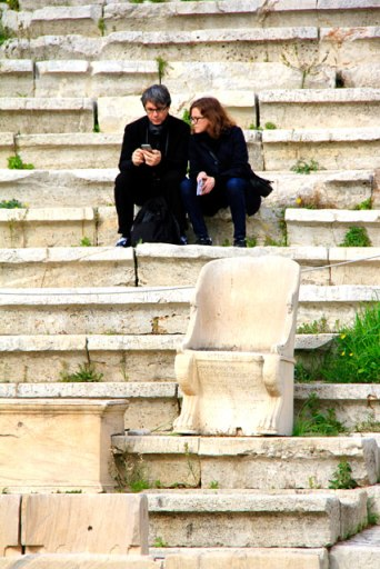 Teatro de Dionísio, na porção sul da Acrópole