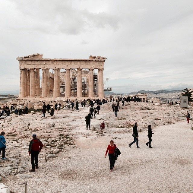 Partenon, na Acrópole (via Instagram)