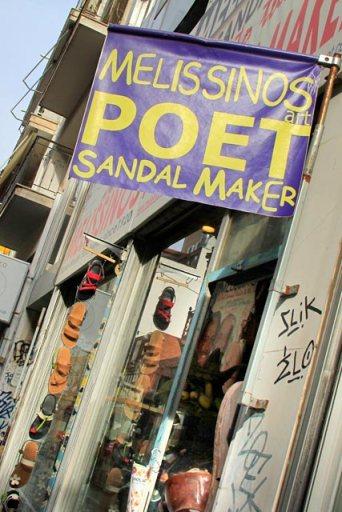 Melissinos Art, a loja do Poeta Sandalheiro