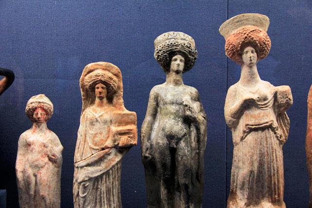 Peças expostas no Museu Benaki