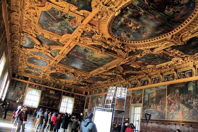 Sala del Maggior Consiglio (Câmara do Grande Conselho), no Palazzo Ducale
