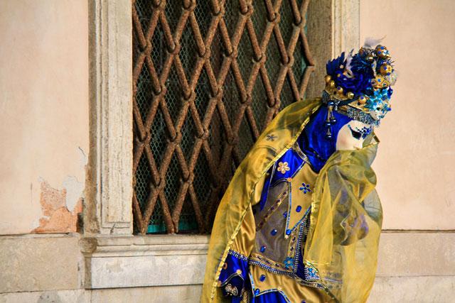Folião no Palazzo Ducale, de frente para a Riva degli Schiavoni
