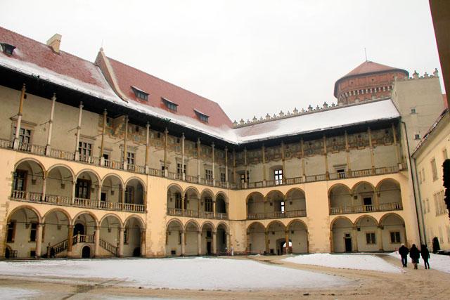 Pátio interno do Castelo de Wawel