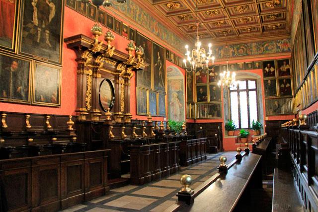 Salão da Assembleia, no Collegium Maius