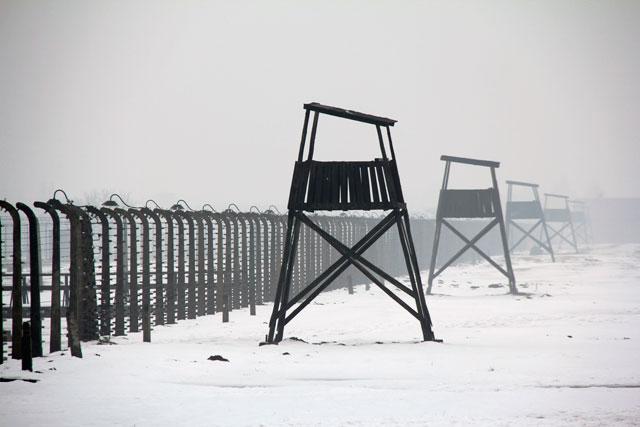Torres de vigia, em Auschwitz II