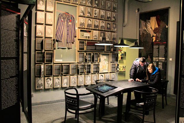 Exibição Povo de Cracóvia em tempos de terror 1939-1945-1956, no museu Ulica Pomorska