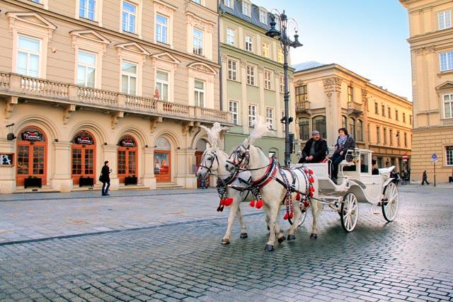 Praça do Mercado, em Cracóvia