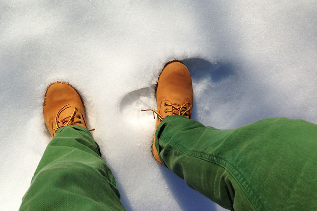 Quinta-feira de sol e neve em Cracóvia
