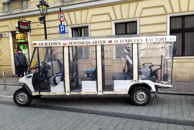 Carro elétrico para passeios turísticos