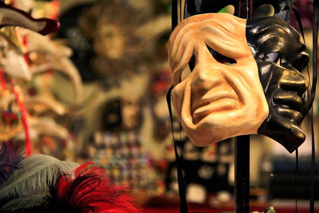 Loja e fábrica de máscaras Ca' Macana, em Veneza