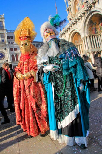 Foliões na Piazza San Marco