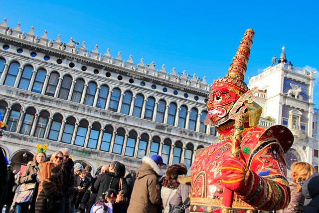 Folião na Piazza San Marco