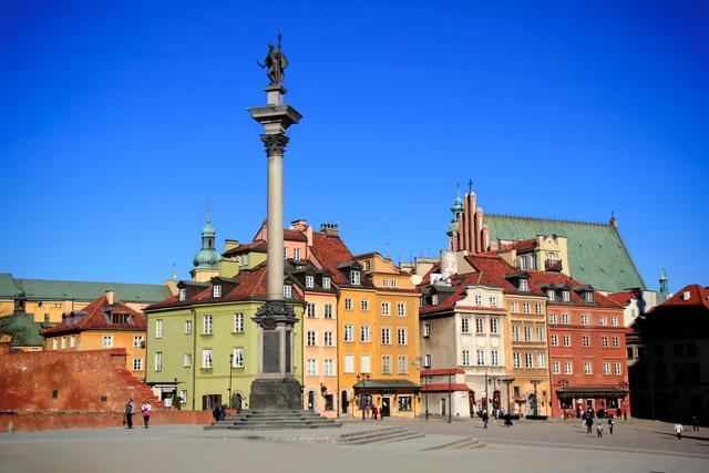 Coluna de Sigismundo, na Praça do Castelo, Cidade Velha
