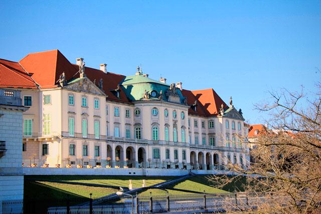 Palácio Real visto da ponte Śląsko-Dąbrowski