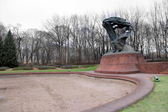 Monumento a Chopin, no Parque Łazienki