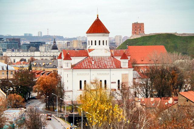 Catedral dos Teótocos vista do mirante do Bastião de Vilnius