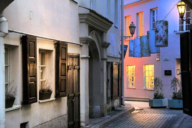 Rua Antokolskio, no Pequeno Gueto Judaico