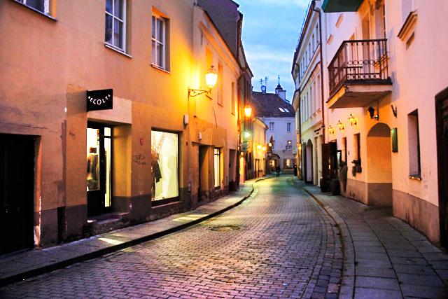 Rua Stiklių, no Pequeno Gueto Judaico