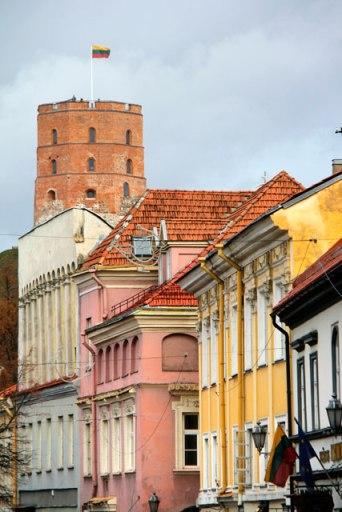 Rua Pilies. Torre de Gediminas ao fundo