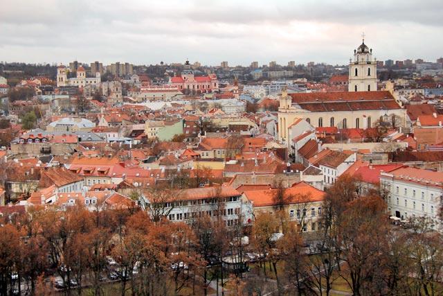 Vilnius vista das ruínas do Castelo Alto