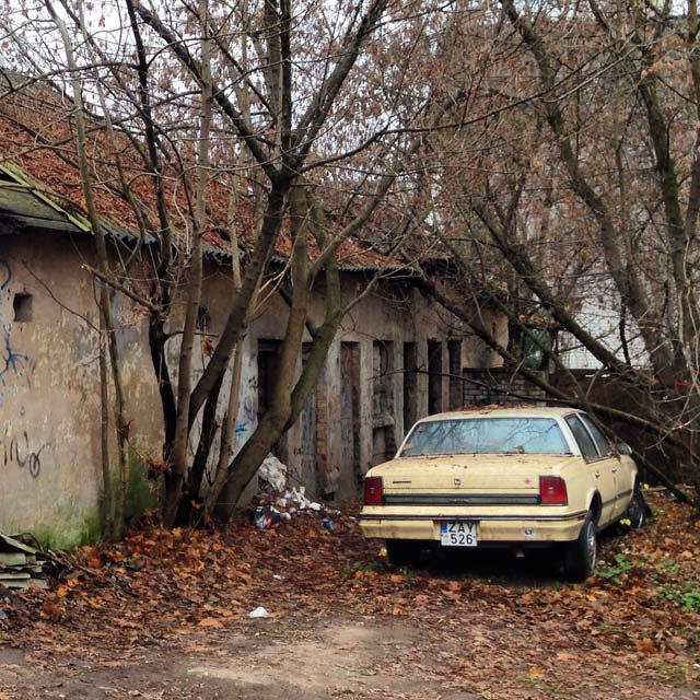 Área residencial em Užupis (via Instagram)