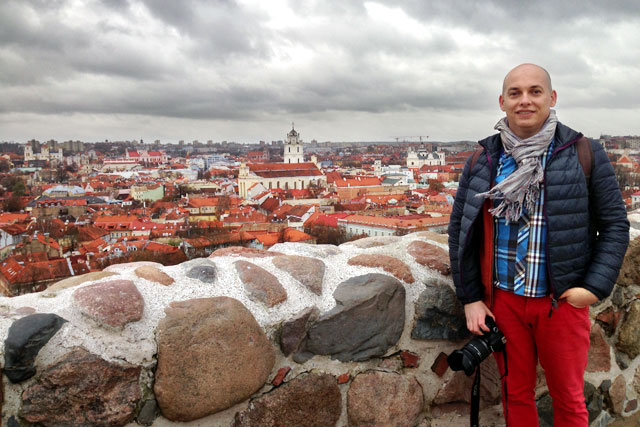 Vilnius vista do mirante do Castelo Alto