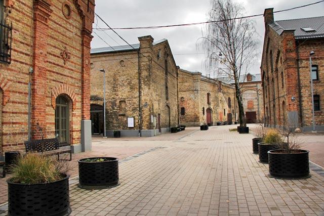 Pavilhões do quarteirão de Spīķeri