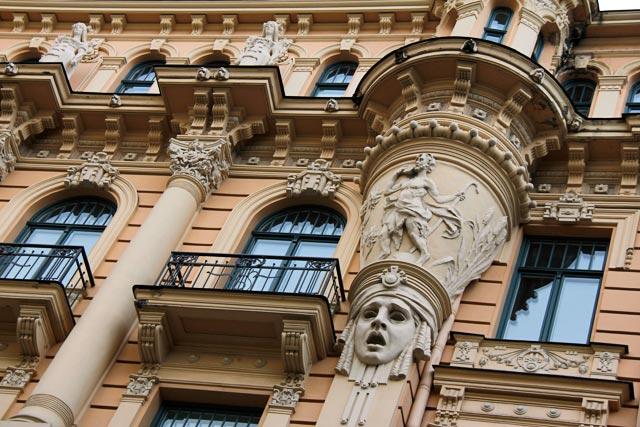 Detalhe da fachada do edifício da Embaixada da Irlanda, na Rua Alberta