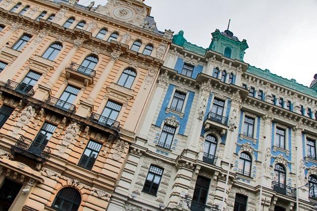 Edifícios da Rua Strēlnieku