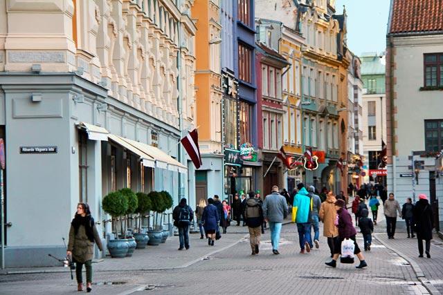 Rua Kaļķu, na Cidade Velha