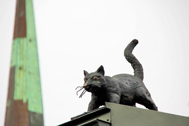 Decoração de telhado, na Cidade Velha