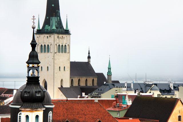 Igreja de São Olavo vista da plataforma de observação de Patkuli