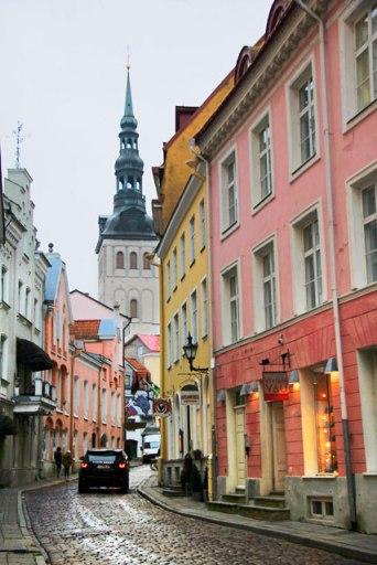Rua Rataskaevu, na Cidade Velha.