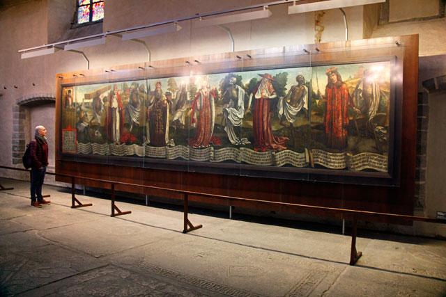 Pintura Dança macabra, do artista alemão Bernt Notke, na Igreja de São Nicolau