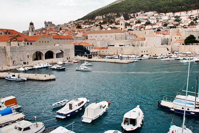Porto Velho visto das Muralhas de Dubrovnik
