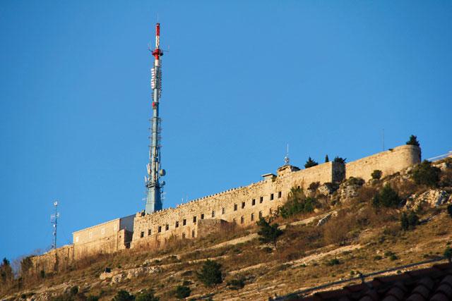 Forte Imperial, no Monte Srđ