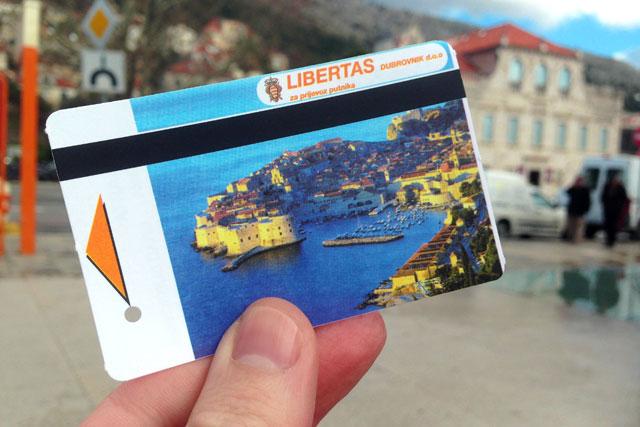 Bilhete de ônibus da Libertas